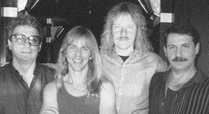 STYX' reunion in 1989 which never came to be.  It was Tommy's last picture with drummer John Panozzo (left).